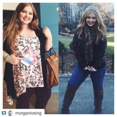 Before and after weight loss transformation.  Such an inspiration! | via TheWeighWeWere.com