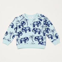 Mini Rodini blue elephant sweatshirt // Scout & Co.