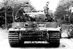 A Tiger 1 with the Schwere SS-Pz. Abt. 101 after arriving in Normandy on June 12th 1944