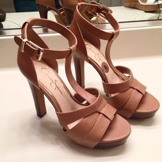 New [Jessica Simpson] tan ankle strap heels size 8 Brand new, never worn and still with tags. Jessica Simpson tan heels with adjustable ankle strap. First time I ever tried them on was for the pic! Size 8 Jessica Simpson Shoes Heels