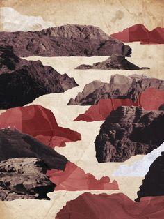 Wadi Rum Collage 2 #collage #jordan #middle east #paint #photography #wadi rum #desert