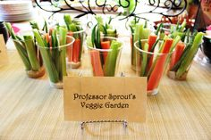 From my incredible and magical Harry Potter-themed baby shower - Vegetables from Professor Sprout's Herbology Garden!
