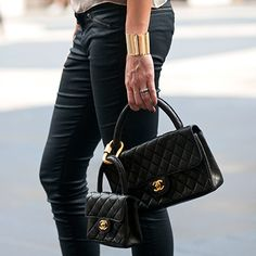 Spring 2013 Fashion Week Street Style - Photos of NYFW Street Style - Marie Claire - double Chanel quilted bags