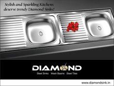 Replace your old kitchen sink with a trendy Diamond Sink! Explore the complete range @ www.diamondsink.in #SteelSink #SteelKitchenSink #StylishSinks #DiamondSink #Kitchen #Sink #KitchenSink