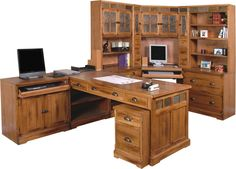 madison collection partner's desk unit | home office | pinterest