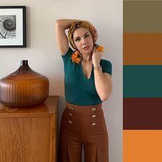 Colour Combinations Fashion, Color Combinations For Clothes, Fashion Colours, Color Schemes Colour Palettes, Color Combos, Soft Autumn Color Palette, Chic Outfits, Fashion Outfits, Brown Outfit