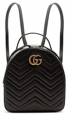 4302d82ea3e9 Gucci - Gg Marmont Quilted Leather Backpack - Womens - Black  #Designerhandbags #Guccihandbags