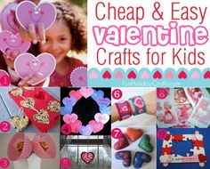 Cheap & Easy Valentine's day Crafts for Kids