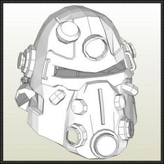 Fallout - T51-B Helmet Papercraft Free Download - http://www.papercraftsquare.com/fallout-t51-b-helmet-papercraft-free-download.html