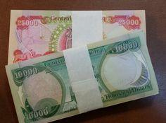 1 Million New Iraqi Dinar 500K in 25k 500k in 10k Treasury Registered Uncirculat