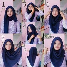 Best how to wear hijab tutorials headscarves ideas Best how to wear hijab tutor. Best how to wear hijab tutorials headscarves ideas Best how to wear hijab tutorials headscarves id Tutorial Hijab Segi 4, Square Hijab Tutorial, Simple Hijab Tutorial, Hijab Style Tutorial, How To Wear Hijab, Hijab Caps, Stylish Hijab, Hijab Fashion Inspiration, Hijabi Girl