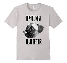 Pug Life by FitFurFun on Amazon! Cute and funny shirt is available in white, baby blue, and silver. Great for any dog lover! #dog #pug #puglife #tshirt #clothing #pets #pooch  https://www.amazon.com/dp/B06Y45KYHW/ref=cm_sw_r_pi_dp_x_oOT7ybVSE4EV2