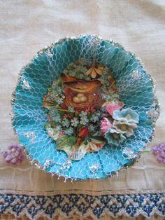 cute #Easter #bird and #nest  in a tart tin ... #blue