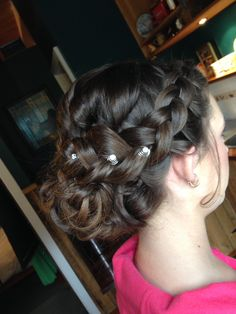 Braids plaits curls perfect junior bridesmaid hair. 'Styled' by Nicole Whitty