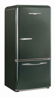 Textured Black Northstar Retro Refrigerator by Elmira