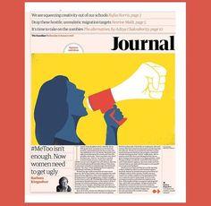 Isn't Enough-Guardian-Illustration: Sebastian Thibault Editorial Layout, Editorial Design, Barbara Kingsolver, Protest Art, Man Illustration, Newspaper Design, Layout Inspiration, Say Hi, The Guardian