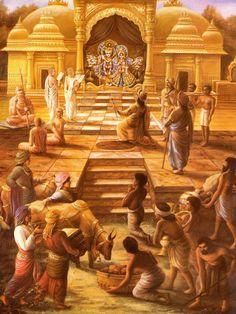 The perfect socio-religious system is explained by Lord Krsna in Bhagavad-gita. Krishna Hindu, Krishna Statue, Radha Krishna Images, Cute Krishna, Lord Krishna Images, Durga, Ancient Indian History, Shree Krishna Wallpapers, Iskcon Krishna