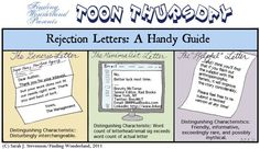A Writer's Comic - Rejection Letters - Writers Write Creative Blog