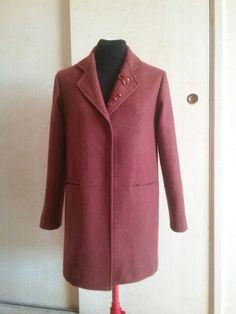 Cappotto in lana color ruggine