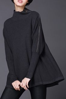 SHARE & Get it FREE | Funnel Neck Batwing SweaterFor Fashion Lovers…