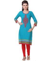 Buy Blue Printed Kurti kurtas-and-kurti online
