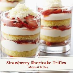 Layering #cake, berries and cream makes for a luscious individual dessert that celebrates #summer. #recipe