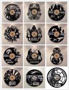 Star Wars 3D Pingente de Disco de Vinil Relógio De Parede Relógio Criativo Relógio Decoração de Casa em Relógios de parede de Home & Garden no AliExpress.com | Alibaba Group