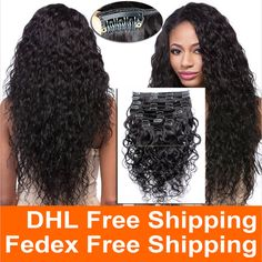 7A Grade 100% Brazilian Virgin Remy Clips In Human Hair Extensions 120g Full Head Natural Black Wet and Wavy Water Wave Clips in - http://jadeshair.com/7a-grade-100-brazilian-virgin-remy-clips-in-human-hair-extensions-120g-full-head-natural-black-wet-and-wavy-water-wave-clips-in/ Full Head Set