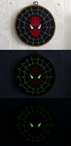 Glow-in-the-dark Spiderman Cross-stitch