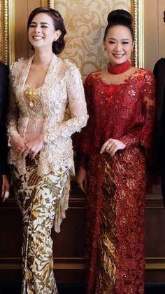 Model Kebaya Modern, Kebaya Modern Dress, Kebaya Dress, Hijab Jeans, Batik Kebaya, Traditional Dresses, Sari, Women's Fashion, Formal Dresses