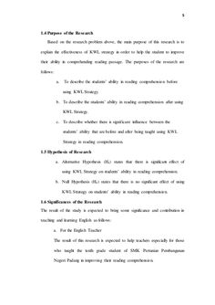 thesis proposal The Effectiveness Of KWL Strategy In Reading Compreh… Research Writing, Academic Writing, Reading Passages, Reading Comprehension, Thesis, Proposal, Presentation, Student