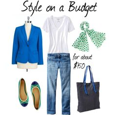 """Green and Blue for Spring"" by bluehydrangea on Polyvore"