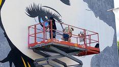 Street art by D*Face for Montreal Mural Festival 2016