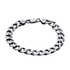 MSRP: $299.99  Our Price: $199.99  Savings: $100.00    Item Number: 615520 (58)  Availability: Usually Ships in 5 Business Days    PRODUCT DESCRIPTION:    This substantial 9mm sterling silver cable chain bracelet features diamond-cut links, a gunmetal finish and is oxidized to accentuate the depth of its pattern. A large decorative lobster clasp completes the bracelet.    FEATURES:    Crafted in Fine Sterling Silver  Diamond-Cut Cable Chain Design  Polished Gunmetal Finish  9.0mm Width…