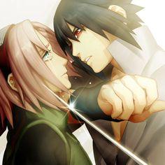Sasuke and Sakura *dokidoki* If you never noticed every time sasuke and sakura meet it's more than intense.