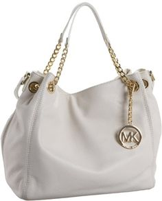 Amazon.com: MICHAEL Michael Kors Jet Set Chain Medium Gathered Tote,Vanilla,one size: Shoes