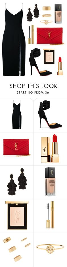 """""""Let's Dance"""" by tasha-m-e ❤ liked on Polyvore featuring Christopher Esber, Christian Louboutin, Yves Saint Laurent, Oscar de la Renta, Forever 21 and AND"""