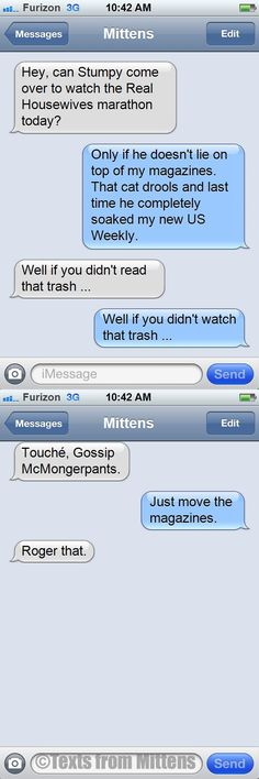 NEW Texts from Mittens: The Trashy Entertainment Edition