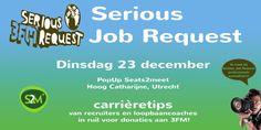 Serious Job Request: netwerken voor het goede doel. Top recruiters geven carrièretips in ruil voor donaties 3FM. Meld je aan: www.debroekriem.nl