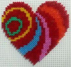 Love heart perler beads by CielHargreaves on DeviantArt