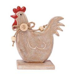 poule en bois de décoration