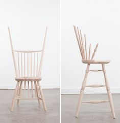 Wrong Chairs: Classic Windsor Designs Oddly Reworked