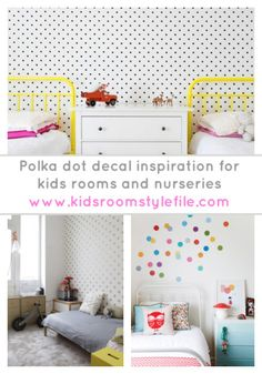 Go dotty for polka dot walls in your kids rooms, nursery or playroom. Here's some ideas for how to create polka dot walls that will bring your kids space to life. #KidsRoom #PolkaDot