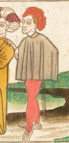 Der Antichrist und die fünfzehn Zeichen vor dem Jüngsten Gericht, [Blockbuch] [Süddeutschland (Schwaben?)], [ca. 1465?, vor 1470]  Folio 9v