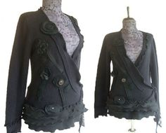 Reserved For Kathleen Floral Wrap Cardigan by RebeccasArtCloset
