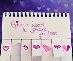 give a heart to someone you love