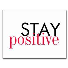 Postcard - Stay positive