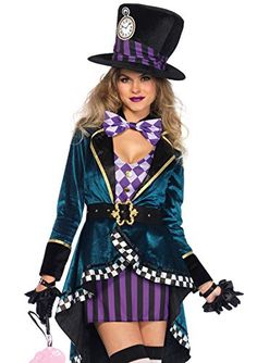 online shopping for Leg Avenue Women's Delightful Mad Hatter Halloween Costume from top store. See new offer for Leg Avenue Women's Delightful Mad Hatter Halloween Costume Mad Hatter Halloween Costume, Halloween Costumes Online, Mad Hatter Costumes, Halloween Kostüm, Adult Costumes, Costumes For Women, Family Costumes, Family Halloween, Women Halloween