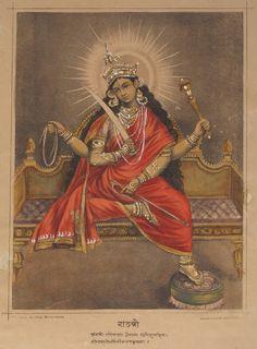 Goddess+Matangi+-+Hand+Coloured+Lithograph+Print%2C+c1880%27s.jpg (875×1189)