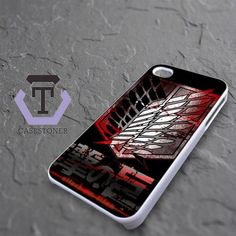 Attack On Titan Military Blood Logo iPhone 4|iPhone 4S Black Case